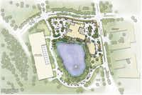 """<span style=""""font-weight: normal;"""">Site map of the 9 acre, $43 million T. Boone Pickens Hospice and Palliative Care Center, which is scheduled to open on February 15.</span>(File)"""