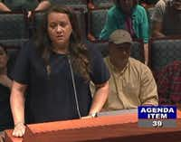 Terri Anderson, president of Anderson Development & Construction LLC, talked about the concerns with the city's proposed involuntary annexation.((City of Frisco))