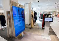 A memory mirror by Memomi is set up inside a new Neiman Marcus store on Wednesday, February 8, 2017 at The Shops at Clearfork in Fort Worth, Texas. Memory mirrors are placed around the store so customers can record how they look while trying on items, then play the video back and send it directly to their email address. (Ashley Landis/The Dallas Morning News)