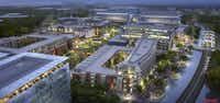 Pioneer Natural Resources is planning a 750,000-square-foot office campus in the $1 billion Hidden Ridge development in Irving.(Gensler)