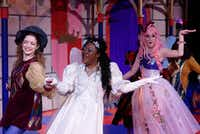 (from l-r) Edna Gill, Nikka Morton and and Devon Rose perform in 'The Sleeping Beauty,' a panto from Theatre Britain at Cox Playhouse in Plano Nov.26-Dec. 30, 2016.(Michael C. Foster)
