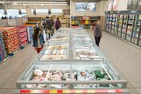 Aldi's new refrigerated area. The company said in February 2017 that it  plans to spend $1.6 billion to expand and remodel 1,300 stores by 2020.(Aldi)