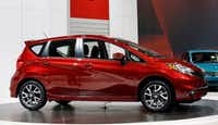 Nissan introduced the Versa Note SR at  the Chicago Auto Show at McCormick Place in Chicago in 2014. (AP photo/Nam Y. Huh, File)