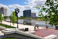 When the Scioto River was returned to its natural course through downtown Columbus, Ohio, acres of new green space opened along the riverfront.Katherine Rodeghier