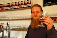 Local honey is the signature ingredient used by mead maker Justin Devilbiss at Brothers Drake Meadery & Bar in Columbus, Ohio.Katherine Rodeghier