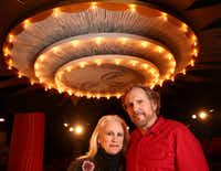 "Katherine Owens, artistic director of Undermain Theatre in Dallas, and her husband, Bruce DuBose, the company's producing director, who stars as the title character in ""Galileo"" at the Undermain.(Rose Baca/Staff Photographer)"
