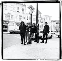Dead Haight Street: The then not-so-famous members of The Grateful Dead pose at the corner of Haight and Ashbury in San Francisco around 1967. (SAN FRANCISCO TRAVEL)