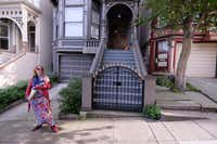 Sunny Powers gives great tours of San Francisco through Haight-Ashbury Flower Power Tours. (JIM BYERS)