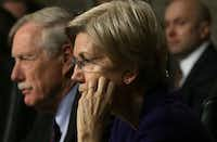"U.S. Sen. Angus King (ID-ME) (L) and Sen. Elizabeth Warren (D-MA) (2nd L) listen during a hearing before Senate Armed Services Committee February 9, 2017 on Capitol Hill in Washington, DC. The committee held a hearing on ""Situation in Afghanistan.""  (Photo by Alex Wong/Getty Images)(Getty Images)"