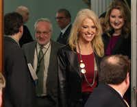 Counselor to the President Kellyanne Conway attends the swearing in ceremony of Rep. Tom Price (R-GA) to be the new Health and Human Services Secretary., on February 10, 2017 in Washington, DC. Conway has been under fire for her comments about Ivanka Trump's clothing line during a TV interview.   (Photo by Mark Wilson/Getty Images)(Getty Images)