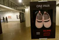 """The """"100+ Million Missing"""" exhibition opened Friday and runs through Wednesday at the Fashion Industry Gallery on Ross Avenue in Dallas. (Jae S. Lee/Staff Photographer)"""