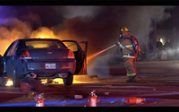 Dallas Fire-Rescue responds to put ou the car fire.