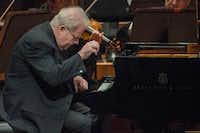 Emanuel Ax performs Beethoven's Piano Concerto No. 2 in B-flat major, Op.19 with the Dallas Symphony Orchestra at the Morton H. Meyerson Symphony Center on February 10, 2017 in Dallas, Texas. (Robert W. Hart/Special Contributor)(Special Contributor)