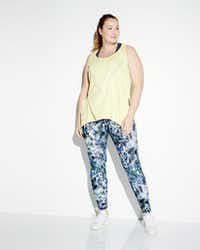 Nanette Lepore Play Plus solid workout tank and the Nanette Lepore Play Plus wide-waist floral-print leggings. For launch of Neiman Marcus Last Call new women's plus-size departments in five Last Call stores on Feb. 18, 2017(Neiman Marcus)