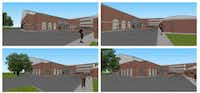 "A rendering of Seay Tennis Center's new proposed building on 4121 Glenwick Lane in University Park.(<p><span style=""font-size: 1em; background-color: transparent;"">Highland Park ISD</span><br></p><p></p>)"
