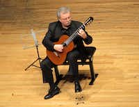 Guitarist Manuel Barrueco performs Granados Spanish Dances on Feb. 13, 2017 at Caruth Auditorium, SMU((Photo: Scott Cantrell))