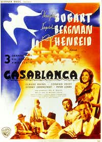 A poster for <i>Casablanca. </i>(DMN file)