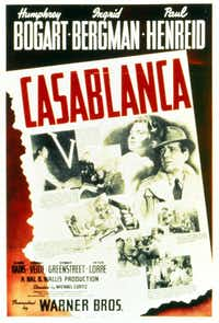A poster for <i>Casablanca.</i>(DMN file)