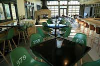 Canteen bar and restaurant at Cavalry Court hotel in College Station((Cavalry Court))