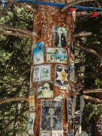 Hunter S. Thompson shrine, Aspen Snowmass Ski Area, Snowmass Village, Colorado. (Dan Leeth, Special Contributor)
