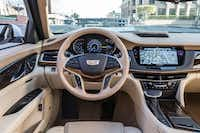 The leather-trimmed seats have up to 16-way controls for driver and passenger.(Cadillac/Fets)