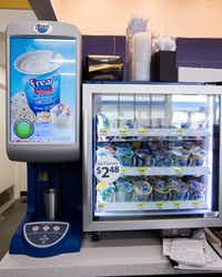 A f'real smoothie machine inside a new Walmart convenience store on Wednesday, February 8, 2017 on FM 1187 in Crowley, Texas. (Ashley Landis/The Dallas Morning News)(Staff Photographer)