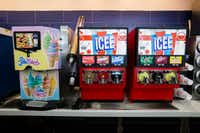 A Flavor Blend ice cream machine and ICEE machines inside a new Walmart convenience store on Wednesday, February 8, 2017 on FM 1187 in Crowley, Texas. (Ashley Landis/The Dallas Morning News)(Staff Photographer)