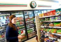 7-Eleven's new 7-Select Go! Smart and Go! Yum products are pictured in a convenience store located at it's new headquarters building in Irving, Texas, Monday, January 23, 2017. (Tom Fox/The Dallas Morning News)(Staff Photographer)