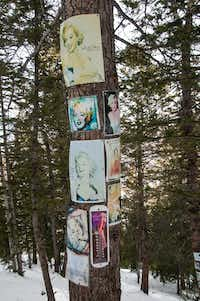Marilyn Monroe shrine, Aspen Mountain Ski Area, Aspen, Colorado.(Dan Leeth, Special Contributor)