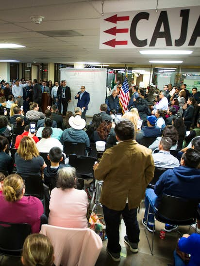 Hundreds pack Mexican Consulate to get advice on immigration issues