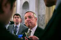 "Sen. Dick Durbin, D-Ill., spoke out after Michael Flynn's resignation as national security adviser. ""The party of Reagan has spoken zero times about the Russian attack or Flynn's actions on the floor of the Senate since early October,"" Durbin said. (Al Drago/The New York Times)"