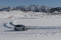 Lap at the Bridgestone Winter Driving School in Steamboat Springs, Colo.(Larry Bleiberg)