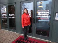 Bridgestone Winter Driving School Instructor Lea Croteau.((Larry Bleiberg))