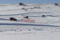 Lapping at the Bridgestone Winter Driving School in Steamboat Springs, Colo..((Larry Bleiberg))