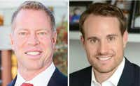 Candidates John Keating and Brandon Burden were the top vote-getters in the Frisco City Council special election.