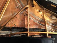 "<p>A Steinway grand piano ""prepared"" for John Cage's ""Sonatas and Interludes,"" at the Nasher Sculpture Center in Dallas, Texas, Saturday, February 18, 2017. (Scott Cantrell/Special Contributor)</p>"