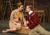Julie K. Rhodes and Matthew Holmes play the younger versions of Kate and Tom Newton in the regional premiere of Aaron Posner's 'Who Am I This Time? (& Other Conundrums of Love)' at Circle Theatre in Fort Worth.(Tim Long)