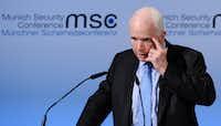 Sen. John McCain, R-Ariz., spoke out against President Donald Trump's statements. (Agence France-Presse)