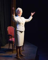 Linda Kay Leonard will return to the role of Ann Richards in the Stage West production of Holland Taylor'€™s one-woman show, 'Ann' at Irving Arts Center June 9-July 8, 2017.(Robert W. Hart/Special Contributor)