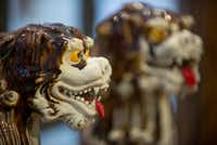 A pair of antique Komainu lion-dogs at Coco & Dash.((Robert W. Hart/Special Contributor))