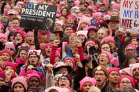 Thousands gather for the Women's March on Washington, D.C., ending at the White House on Jan. 21. (Carolyn Cole/Los Angeles Times)(TNS)