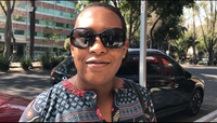 "Dallas resident Cheramie Law, in Mexico City on business, wants the Trump administration to build ""stronger bridges"" between Americans and Mexicans.((Angela Kocherga/Staff))"