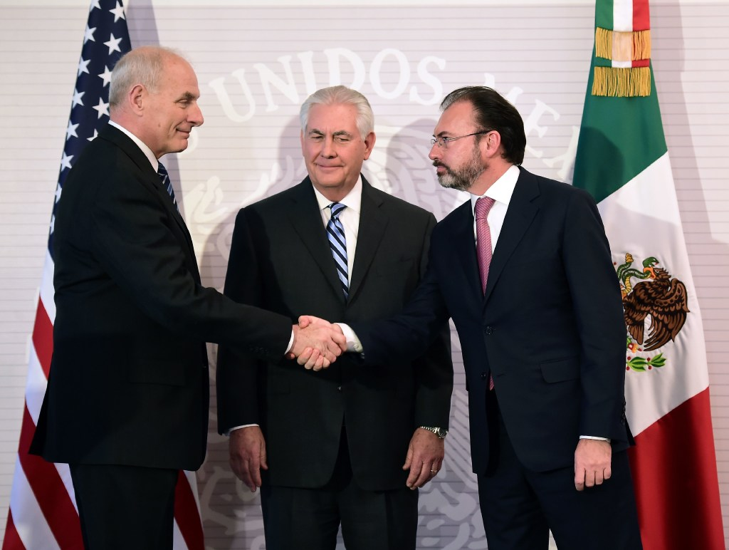 Immigration, security on agenda as Tillerson meets with Mexican officials