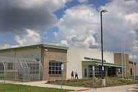 Prairieland Detention Center, a 707-bed facility in Alvarado, has a contract with U.S. Immigration and Custom Enforcement for detainees in civil detention. (Louis DeLuca/The Dallas Morning News)