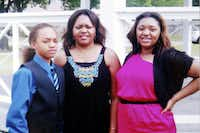 Photo provided by the family on Saturday, August 10, 2013. Storm Malone, left, was hospitalized, his mother Toya Smith, center, and Tasmia Allen, right, were allegedly shot and killed  by Erbie Lee Bowser on August 8, 2013.(Special Contributor)
