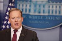 At the White House on Thursday, press secretary Sean Spicer addressed President Donald Trump's recent action on transgender bathroom in public schools. (Aaron P. Bernstein/Getty Images)