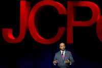 Marvin Ellison, CEO of J.C. Penney, speaks during an annual J.C. Penney staff meeting Wednesday, March 16, 2016 in downtown Dallas. (G.J. McCarthy/Staff Photographer)
