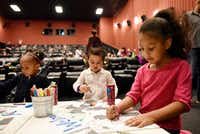Youngsters take part in an event hosted by Sparkling Ice and Vogel Alcove, a Dallas-based charity for homeless children. (Ben Torres/Special Contributor)