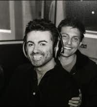 An undated photograph of pop superstar George Michael and Dallas partner Kenny Goss from Kenny Goss' personal collection.(Kenny Goss' private collection)