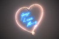 """George Loves Kenny"" is a neon work by British contemporary artist Tracey Emin for Dallas art collector Kenny Goss and his partner, pop-star George Michael"